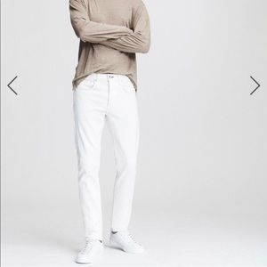 RAG & BONE SLIM FIT 2 WHITE DENIM JEANS